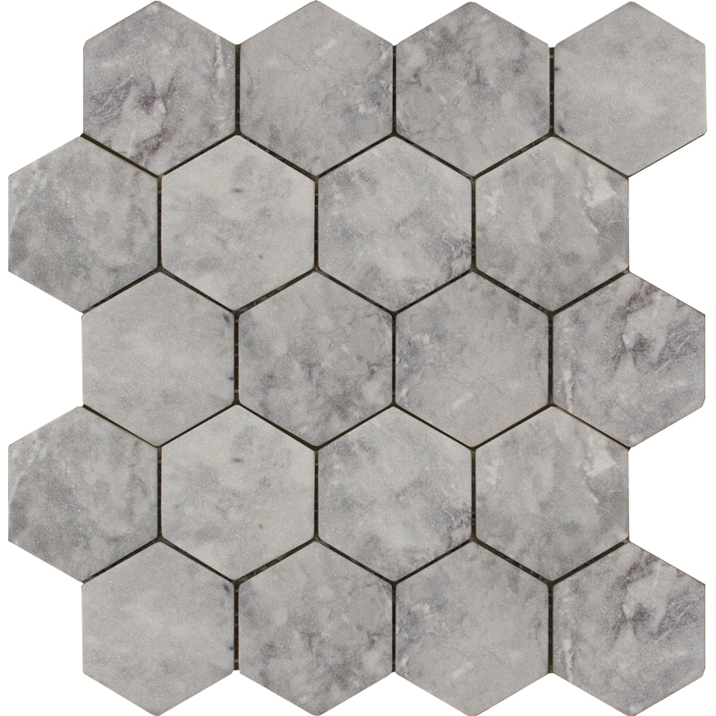 Hexagon Lg Tumbled 74x74, Wild Stone